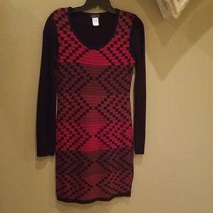 Venus black and red sweater dress